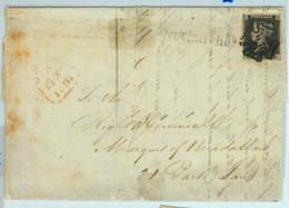 BK0663 - GB Great Brittain - POSTAL HISTORY - PENNY BLACK On COVER London 1841 - Briefe U. Dokumente