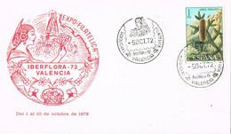 37714. Tarjeta VALENCIA 1972. Exposicion Filatelica IBERFLORA 72 - 1931-Aujourd'hui: II. République - ....Juan Carlos I