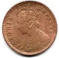 INDE ANGLAISE...1/12  ANNA   1892....VICTORIA.............TTB...... - India