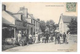 Cpa...Saint-Marc...(Loire-Inf.)...commerces...café,hotel...animée...1907... - Otros Municipios