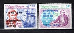POLYNESIE PA  N° 142 + 143   NEUFS SANS CHARNIERE COTE 7.00€    CAPITAINE COOK  BATEAUX - Unused Stamps