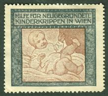 """Österreich ~1912 """" Hilfe Für Neugegründete Kinderkrippen In Wien """" Vignette Cinderella Reklamemarke - Erinnofilia"""