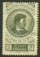 """Italia Südtirol Alto Adige ~ 1910 """" Tiroler Volksbund Vom Gleichen Eisen... """" Vignette Cinderella Reklamemarke - Erinnofilia"""