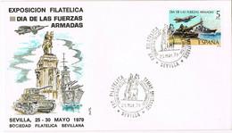 37719. Carta SEVILLA 1979. Dia De Las Fuerzas Armadas - 1931-Aujourd'hui: II. République - ....Juan Carlos I