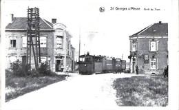 St Georges S/Meuse - Arrêt Du Tram (tramway Repro 75e Anniversaire L'Union 1908-1983 Stockay) - Saint-Georges-sur-Meuse