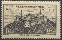 Fezzan, 1946, Symboles Locaux, Fort De Sebha, 10 C., MH* - Fezzan (1943-1951)