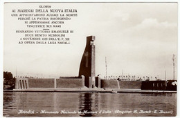 MILITARI - BRINDISI - MONUMENTO NAZIONALE AL MARINAIO D'ITALIA - MUSSOLINI - ERA FASCISTA - Vedi Retro F.p. - Monumenti Ai Caduti