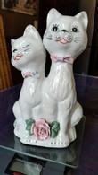 Porseleinen Beeldje Van 2 Katjes - Katten