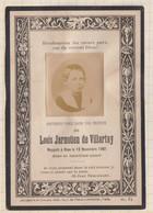 20A1245 IMAGE PIEUSE MORTUAIRE LOUIS JARNOÜEN DE VILLARTAY 1601 BRETAGNE - Images Religieuses