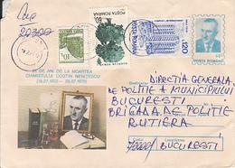 SCIENCE, CHEMISTRY, COSTIN NENITESCU, NICE STAMPS, REGISTERED COVER STATIONERY, ENTIER POSTAL, 1995, ROMANIA - Chemistry