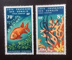 COTE FRANCAISE DES SOMALIS - Corail + Poisson - Y&T PA 49 - Côte Française Des Somalis (1894-1967)
