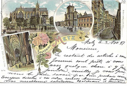 Carte Postale - CPA Dpt N°57 MOSELLE - Ecrite Et Datée De 1897 - METZ - Souvenir De Metz. - Metz
