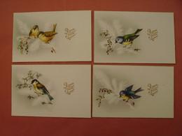 Lot De 4 Cartes Postales D'oiseaux. - Vogels