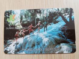 JAMAICA  J$20,-  GPT CARD  DUNNS RIVER FALLS   CONTROL NR: 1JAMC   Fine Used Card  **3224** - Giamaica