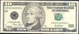 USA 10 Dollars 2001 B  - VF+ # P- 511 < B - New York NY > - Biljetten Van De  Federal Reserve (1928-...)