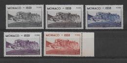 MONACO - YVERT N° 195/199 ** MNH - COTE = 25.5 EUROS - Neufs