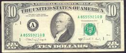 USA 10 Dollars 1988A A  - VF # P- 482 < A - Boston MA > - Biljetten Van De  Federal Reserve (1928-...)