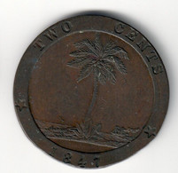 Liberia 2 Cents 1847 VF .SA. - Liberia