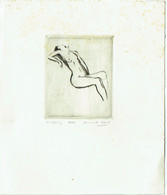 Gravure. Armand Apol. Nu. 1er état. 1/1. - Stiche & Gravuren
