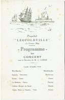 """Paquebot """"Léopoldville"""" 13e Croisière Belge. Programme Du Concert, 1934. - Programas"""