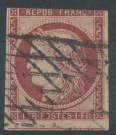 Lot N°58347  N°6, Oblit Grille Sans Fin Oblique Vers La Droite, Ind 23, Coté 1000 Euros, Trois Belles Marges Avec Voisin - 1849-1850 Cérès