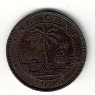 Liberia 1 Cents 1896 XF .SA. - Liberia