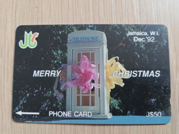 JAMAICA  J$50-  GPT CARD   MERRY CHRISTMAS  CONTROL NR: 10JAMB   Fine Used Card  **3230** - Giamaica
