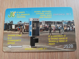 JAMAICA  J$20-  GPT CARD   KEEPS JAMAICA TALKING CONTROL NR: 12JAMA   Fine Used Card  **3232** - Giamaica