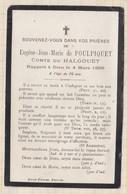 20A1248 IMAGE PIEUSE MORTUAIRE De POULPIQUET COMTE DU HALGOUET 1896 PLOUZANE - Images Religieuses