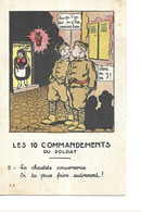 MILITAIRE  LES 10 COMMANDEMENTS DU SOLDAT   N 9 LA CHASTETE CONSERVERAS SI TU PEUX FAIRE AUTREMENT ! COULEURS - Humorísticas
