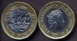 Great Britain UK 1 Pound 2019 UNC - 1971-… : Monete Decimali