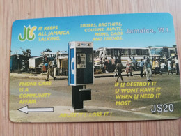 JAMAICA  J$20-  GPT CARD   KEEPS JAMAICA TALKING CONTROL NR: 14JAMD   Fine Used Card  **3234** - Giamaica