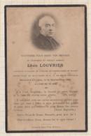 20A1249 IMAGE PIEUSE MORTUAIRE LOUVRIER CHANOINE RENNES CURE ST AUBIN 1935 - Images Religieuses