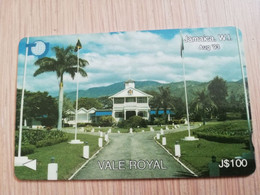 JAMAICA  J$100-  GPT CARD   VALE ROYAL CONTROL NR: 15JAMD   Fine Used Card  **3235** - Giamaica