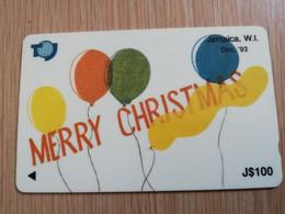 JAMAICA  J$100-  GPT CARD   MERRY CHRISTMAS  CONTROL NR: 16JAMC   Fine Used Card  **3238** - Giamaica
