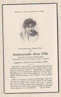 20A1252 IMAGE PIEUSE MORTUAIRE ALINE ITTEL PROF ND VIEUX COURS RENNES 1956 - Images Religieuses