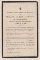 20A1253 IMAGE PIEUSE MORTUAIRE MAXIME DUPONT COQUELIN RENNES 1915 - Images Religieuses