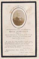 20A1255 IMAGE PIEUSE MORTUAIRE JUMELAIS CHEMIN DE FER DE L'OUEST RENNES 1904 - Images Religieuses