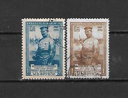 URSS - 1950 - N. 1496/97 USATI (CATALOGO UNIFICATO) - 1923-1991 USSR