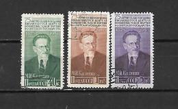 URSS - 1950 - N. 1498/500 USATI (CATALOGO UNIFICATO) - 1923-1991 UdSSR