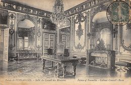 Semeuse Fond Plein (YT 137) Sur Carte Postale - Versailles - Palais - Salle Du Conseil Des Ministres - Pour  à - Postmark Collection (Covers)