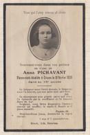 20A1257 IMAGE PIEUSE MORTUAIRE ANNA PICHAVANT CROZON 1928 - Images Religieuses
