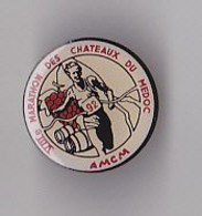 PIN'S  THEME ATHLETISME  MARATHON DES CHATEAUX DU MEDOC - Atletica