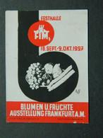 Vignette Reklamemarke Cinderella Blumen Früchte Ausstellung Frankfurt Flowers Fleurs Exhibition 1927 - Erinnofilia