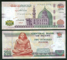 EGYPT / 200 POUNDS / (SMALL SIZE) / DATE : 14-10-2019 / P-73b / SIG. : AMER /  PREFIX : 236 / UNC. - Egypte