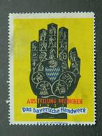 Vignette Reklamemarke Cinderella Ausstellung Bayerische Handwerk Artisanat Crafts Munchen Munich 1933 - Erinnofilia