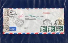 ##(DAN209)-Egypt 1977-Bank Saderati Iran  Airmail Cover From Cairo To Milano-Italy - Egypt