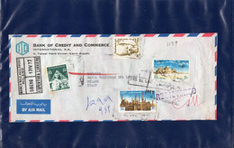 ##(DAN209)-Egypt 1977-Bank Of Credit And Commerce  Airmail Cover From Cairo To Milano-Italy - Egypt