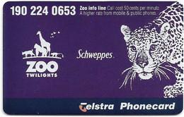 Australia - Telstra (Chip) - Melbourne Zoo, Leopard, Exp. 01.2000, 5$, 50.000ex, Mint - Australie