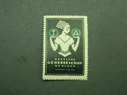 Cinderella Vignette Werbemarke Gewerbeschau Trade Show Salon München Munich 1922 - Erinnofilia